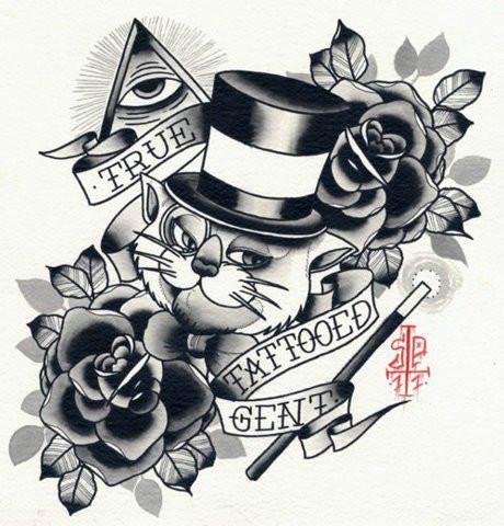 小猫纹身图案图腾石家庄最好纹身图片大全