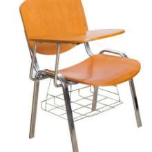 供应夹板椅面培训椅 钢木组合培训椅 带写字板培训椅图片