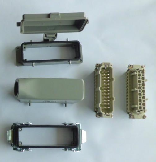 供应重载矩形连接器模具热流道专用24针