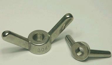 供应佛山304不锈钢羊角螺母 手拧螺母 蝶型螺母 元宝螺母 不锈钢厂家直销批发