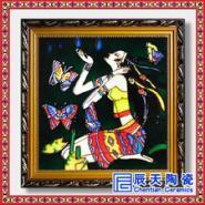 手绘青花瓷板画陶瓷壁画图片