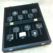 黑色喷漆精油盒高档木盒子包装定做图片
