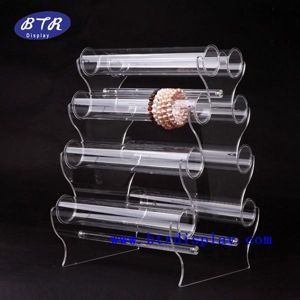 供应亚克力手镯展示架 透明压克力手链架 有机玻璃手环展示架