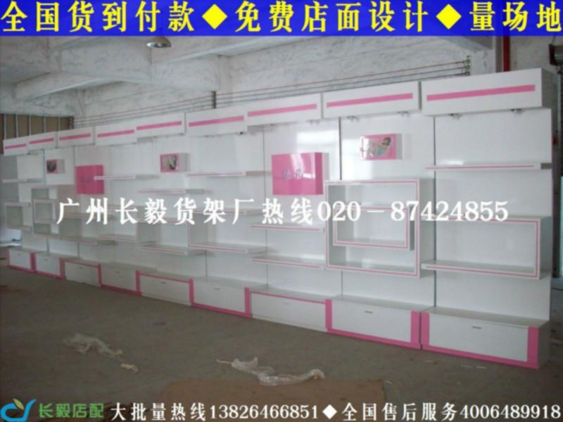 时尚鞋店货柜,小型鞋店装修货架展示柜 高清图片