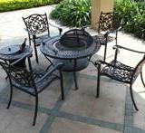 供应铸铝烧烤桌椅/户外家具