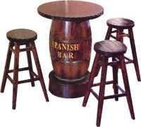 供应酒吧桌椅/厂家直销碳化木户外家具