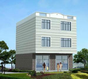 房屋设计 房屋外观设计效果图 农村二层别墅设计高清图片