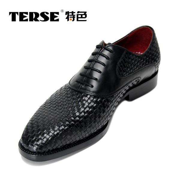 供应TERSE特色新款男士进口蛇皮皮鞋 固特异手工男鞋 商务正装皮鞋