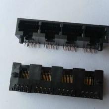供应4口网络接口RJ45插座8针 插件RJ45母座8P8C