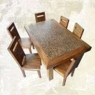 老榆木餐台图片