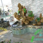 天然真石头制作吸水石假山盆景图片