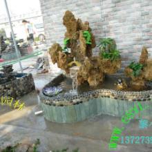 供应天然真石头制作吸水石假山盆景喷泉瀑布流水可加雾化器阳台鱼池造景批发