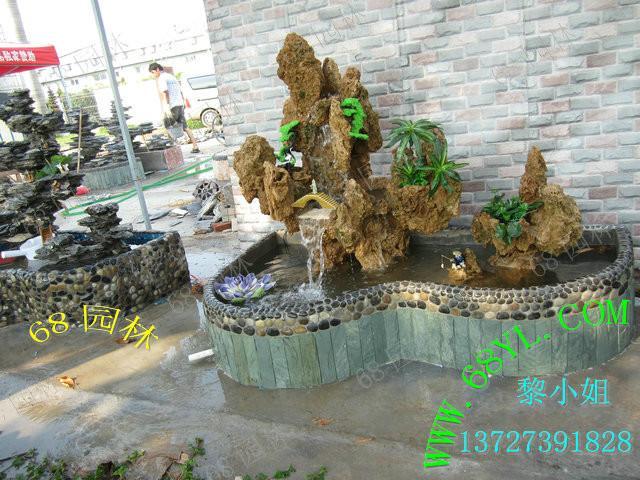 供应天然真石头制作吸水石假山盆景喷泉瀑布流水可加雾化器阳台鱼池图片