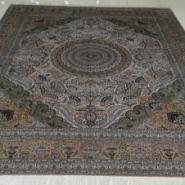 波斯高道数典雅真丝手工打结地毯图片
