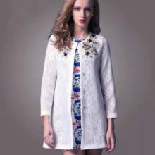 供应2014欧美春秋新款绸缎蕾丝外套批发设计舒适不紧绷