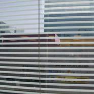 北京办公室玻璃贴膜磨砂膜防撞条图片