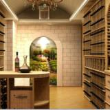 供应实木红酒展示柜