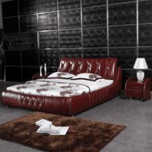 供应简约双人皮床休闲套床广东直销皮床优质专用软体床批发