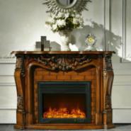 T258伏羲木质壁炉图片
