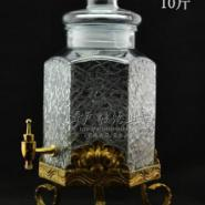 六棱冰裂泡酒瓶图片