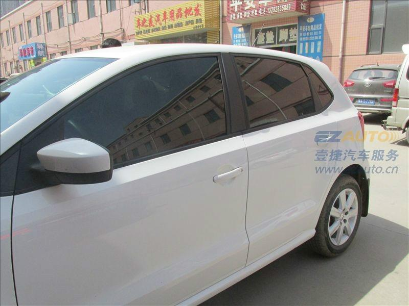石家庄大众POLO龙膜汽车太阳膜贴膜授权施工价格龙膜汽车膜进口隔高清图片
