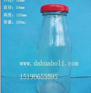 200ml果汁饮料玻璃瓶果茶瓶批发图片
