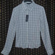 供应外贸原单日韩女装格子纯棉衬衫图片
