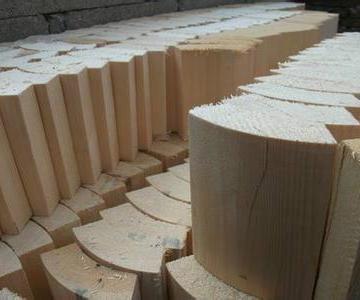 供应红松木管托,空调管道木托价格图片