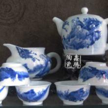 供应青花瓷人物花面茶具,景德镇茶具