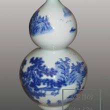 供应青花瓷-山水花瓶-手绘瓷瓶