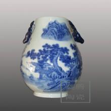 供应手绘花瓶-青花山水花瓶-礼品瓷器