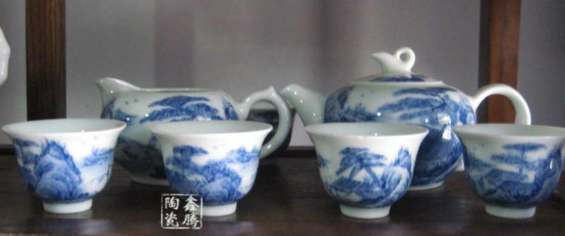 供应高档手绘茶具 青花瓷功夫茶具 高档手绘茶具 青花瓷功夫茶具