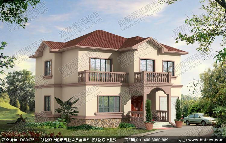 新别墅两层大全设计图农村螺旋式别墅梯图片