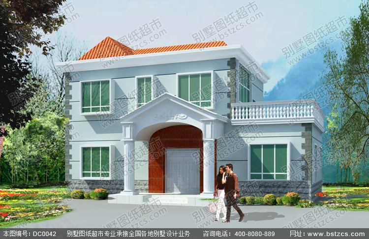 江西两层农村别墅设计图纸dc0042图片