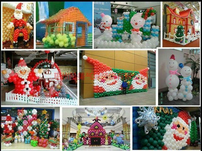 供应河源圣诞气球装饰布置策划