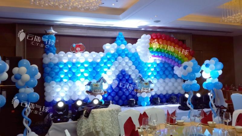 供应气球城堡制作/舞台背景/气球背景/宝宝宴气球装饰/气球装饰