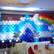 气球城堡制作/舞台背景/气球背景图片