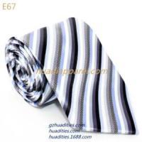 灰色黑条纹领带E67