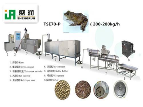 供应牛蛙颗粒饲料膨化设备图片