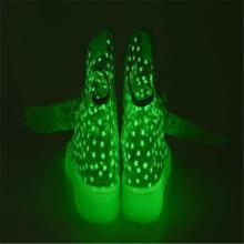 供应五星行发光绿运动鞋发光翅膀鞋发光洞洞鞋
