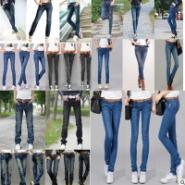 时尚修身加厚牛仔裤图片
