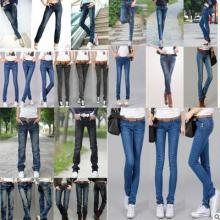 供应韩版加厚女式牛仔裤 便宜加厚牛仔裤批发