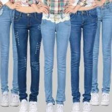供应韩版新款牛仔裤女小脚铅笔长裤批发