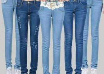 韩版加厚女式牛仔裤图片