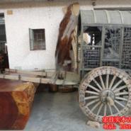榆木百年老马车图片