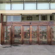 甘肃铜门铜工艺门铜旋转门感应门,甘肃铜地弹门自动门厂家直销安装价格