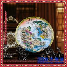 供应手绘陶瓷盘 粉彩陶瓷盘 高档骨瓷