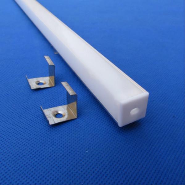 供应用于橱柜灯具用2014精品LED硬灯条外壳V型,带直角PC软灯带铝槽外壳