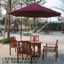 供应户外木质桌椅,防腐木桌椅带伞,户外桌椅,简易露天桌椅,户外专用