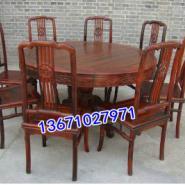 红木圆台餐桌图片